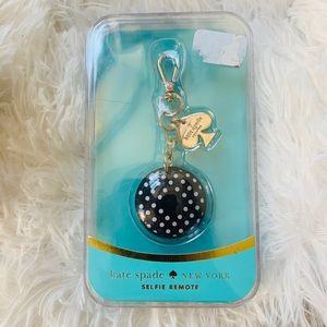 Kate Spade selfie phone remote keychain new in box